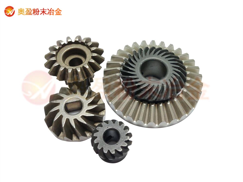 粉末冶金齿轮零件与45号钢加工齿轮的